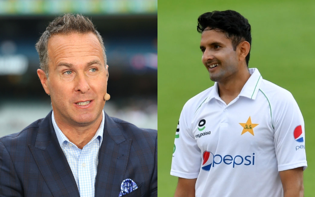 Michael Vaughan and Mohammad Abbas