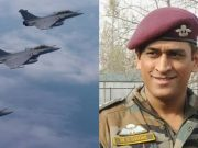 MS Dhoni and Rafale jets
