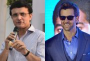 Sourav Ganguly and Hritik Roshan