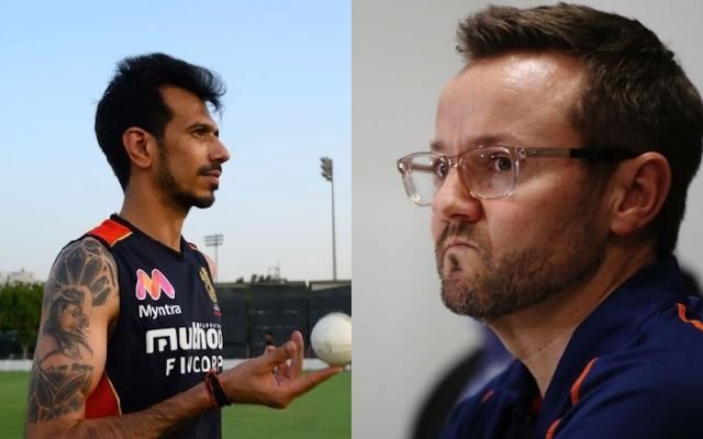 Yuzvendra Chahal and Mike Hesson
