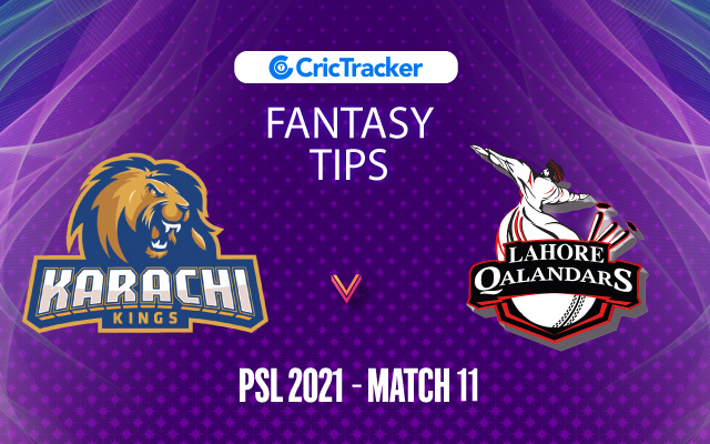 KKI vs LQA Prediction, 11Wickets Fantasy Cricket Tips: Playing XI, Pitch Report & Injury Update – PSL 2021, Match 11 - CricTracker
