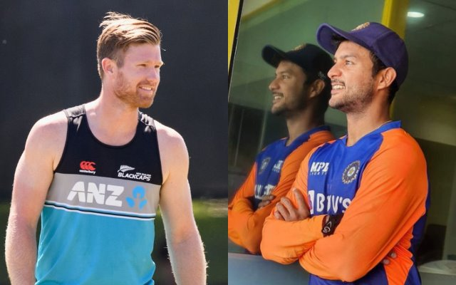 Jimmy Neesham brutally trolls Mayank Agarwal after the latter posts picture of workout