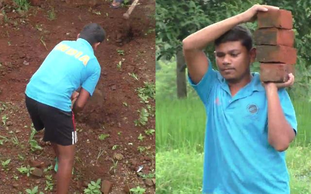 India's Blind Cricket World Cup Winner Naresh Tumda works as a labourer to  make ends meet